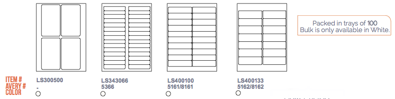 Laser-Stock Labels Layout 4