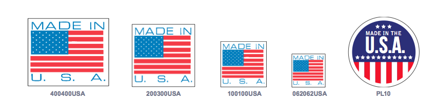 Pictorial Labels - Made in the USA Proud